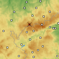 Nearby Forecast Locations - Erzgebirge/W - Χάρτης