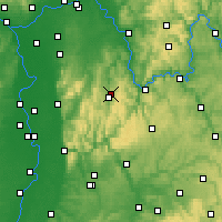 Nearby Forecast Locations - Odenwald - Χάρτης