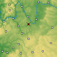 Nearby Forecast Locations - Giebelstadt - Χάρτης