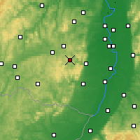 Nearby Forecast Locations - Palatinate Forest - Χάρτης