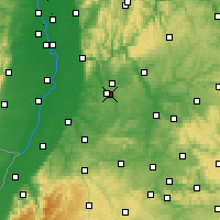 Nearby Forecast Locations - Kraichgau - Χάρτης
