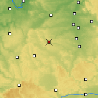 Nearby Forecast Locations - Ansbach - Χάρτης