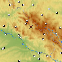 Nearby Forecast Locations - Zwiesel - Χάρτης
