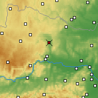 Nearby Forecast Locations - Gars am Kamp - Χάρτης