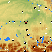 Nearby Forecast Locations - Braunau am Inn - Χάρτης