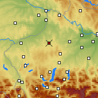 Nearby Forecast Locations - Ried im Innkreis - Χάρτης