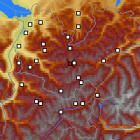 Nearby Forecast Locations - Alpe-Rauz - Χάρτης