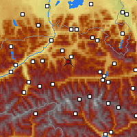 Nearby Forecast Locations - Hahnenkamm - Χάρτης