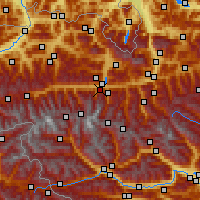 Nearby Forecast Locations - Kaprun - Χάρτης