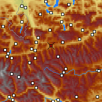Nearby Forecast Locations - Radstadt - Χάρτης