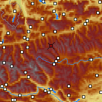 Nearby Forecast Locations - Obertauern - Χάρτης