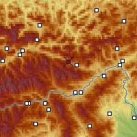 Nearby Forecast Locations - Wald am Schoberpass - Χάρτης