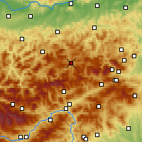 Nearby Forecast Locations - Mariazell - Χάρτης