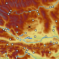 Nearby Forecast Locations - Weitensfeld - Χάρτης