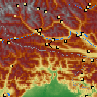 Nearby Forecast Locations - Kötschach - Χάρτης