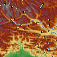 Nearby Forecast Locations - Weissensee - Χάρτης