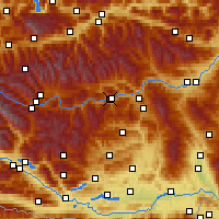 Nearby Forecast Locations - Murau - Χάρτης