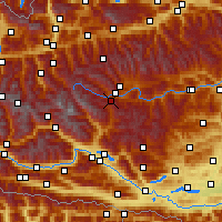 Nearby Forecast Locations - Katschberg - Χάρτης