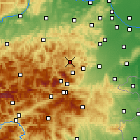 Nearby Forecast Locations - Gutenstein - Χάρτης