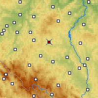 Nearby Forecast Locations - Kocelovice - Χάρτης