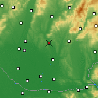 Nearby Forecast Locations - Nitra - Χάρτης