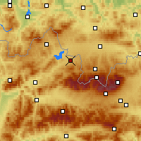 Nearby Forecast Locations - Liesek - Χάρτης