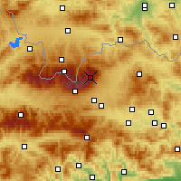 Nearby Forecast Locations - Lomnický štít - Χάρτης