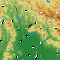 Nearby Forecast Locations - Kamenica nad Cirochou - Χάρτης