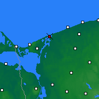 Nearby Forecast Locations - Dziwnów - Χάρτης