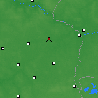 Nearby Forecast Locations - Biała Podlaska - Χάρτης