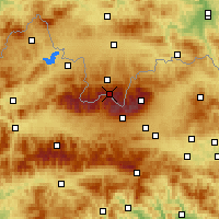Nearby Forecast Locations - Kasprowy Wierch - Χάρτης