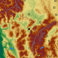 Nearby Forecast Locations - Kukës - Χάρτης