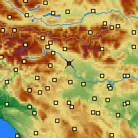 Nearby Forecast Locations - Kranj - Χάρτης