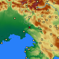 Nearby Forecast Locations - Νόβα Γκόριτσα - Χάρτης