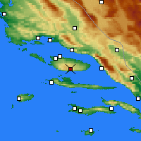 Nearby Forecast Locations - Bol Airport - Χάρτης