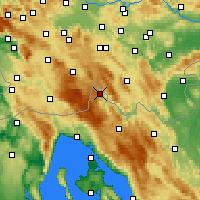 Nearby Forecast Locations - Čabar - Χάρτης