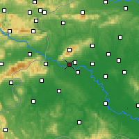 Nearby Forecast Locations - Zagreb Gric - Χάρτης