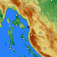 Nearby Forecast Locations - Senj - Χάρτης