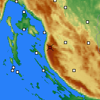 Nearby Forecast Locations - Zavizan - Χάρτης