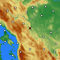Nearby Forecast Locations - Ogulin - Χάρτης