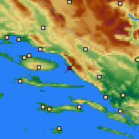 Nearby Forecast Locations - Μακάρσκα - Χάρτης
