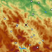 Nearby Forecast Locations - Zenica - Χάρτης