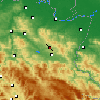 Nearby Forecast Locations - Tuzla - Χάρτης