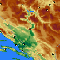 Nearby Forecast Locations - Μόσταρ - Χάρτης