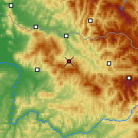Nearby Forecast Locations - Ocna Șugatag - Χάρτης
