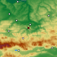 Nearby Forecast Locations - Βέλικο Τάρνοβο - Χάρτης