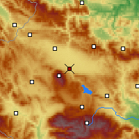 Nearby Forecast Locations - Σόφια - Χάρτης