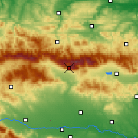 Nearby Forecast Locations - Botev Peak - Χάρτης