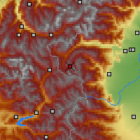 Nearby Forecast Locations - Sestriere - Χάρτης