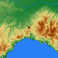 Nearby Forecast Locations - Giovi Pass - Χάρτης